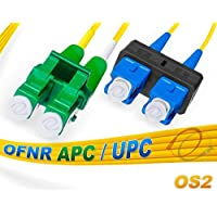OS2 LC/APC SC/UPC Duplex Fiber Patch Cable Singlemode TAA - 3 Meter
