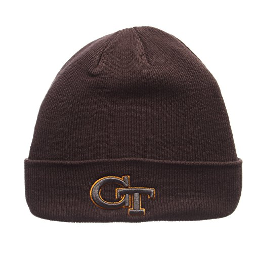ZHATS Georgia Tech Yellow Jackets Gray X-RAY POP Cuff Beanie Hat - NCAA Cuffed Winter Knit Toque Cap (Georgia Tech Knit)