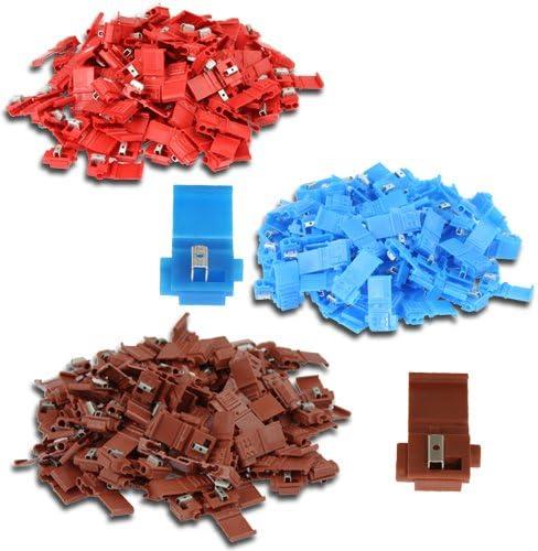 SET je 100x rot - 100x blau - 100x braun 300 Doppel-Abzweigverbinder