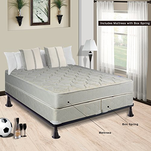 Box Spring Split Set - Continental Sleep Hollywood Collection 8-Inch Fully Assembled Othopedic Mattress and 8