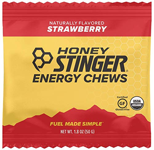 Honey Stinger Organic Energy Chews, Strawberry, Sports Nutrition, 1.8 Ounce (Pack of 12)