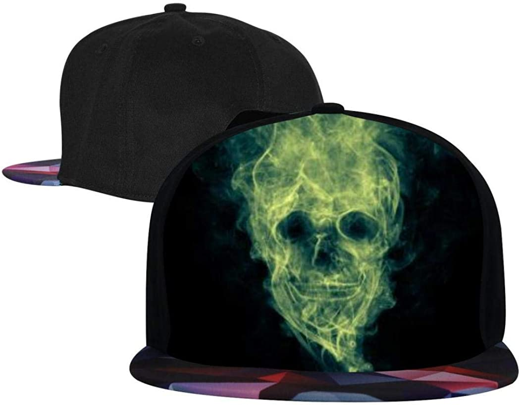 Fashion Baseball Cap for Men//Women Kicher Green Skull Hip Hop Cap Snapback Caps for Youth Adjustable Flat Brim Hat