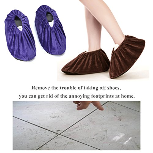 5 Pairs Non Slip Washable Reusable Shoe Covers For Household Thickened Boot Covers by PlasMaller (Image #1)
