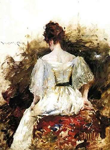 Museo Pollici 1890 Tela Acquistare Ritratto X Bianco Una Del On 50 L'abito Stampa 40 1888 line Di Donna L'uscita CUz5xw