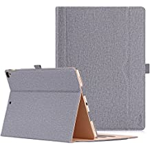 Apple iPad Pro 12.9 Case - ProCase Leather Stand Folio Case Cover for iPad Pro 12.9 Inch (Both 2017 and 2015 Models), with Multiple Viewing Angles, Auto Sleep/Wake, Apple Pencil Holder -Grey