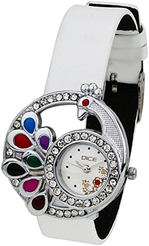 Dice Women's Analogue White Dial Watch - PCK-W169-8441