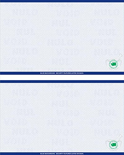 Premium Washington State Prescription Security Laser RX Sheets 8.5 x 11, One Perforations (1,000 Sheets)