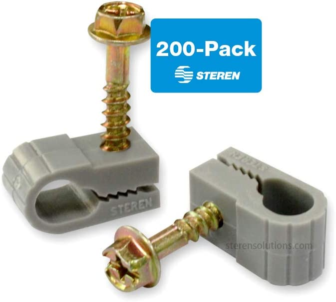 QTY 50 PCS STEREN 200-963WH Single Cable Mounting Clip