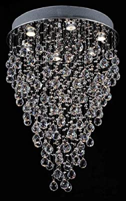 """Modern Contemporary Chandelier """"Rain Drop"""" Chandeliers Lighting with Crystal Balls! W 18"""" X H 32"""""""