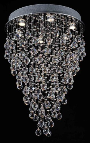"Modern Contemporary Chandelier ""Rain Drop"" Chandeliers Lighting with Crystal Balls! W 18″ X H 32″"
