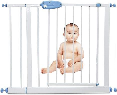 Leogreen - Puerta de Seguridad para Niños Perros Escaleras Barrera de Seguridad de metal, Extensible de 88 cm a 101 cm: Amazon.es: Bebé