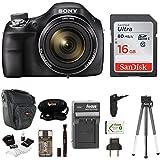 Sony DSC-H400 Digital Camera w/ Small Gadget Case & 16GB SD Card Bundle