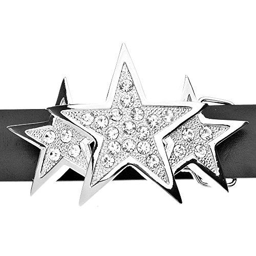 tripla Stella Cintura Bling d'argento ghiacciata tETqawTr