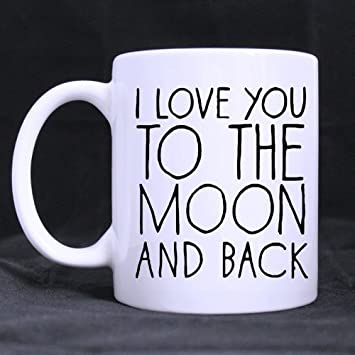 Pinguin Becher I Love You To The Moon And Back Valentinstag Geschenk