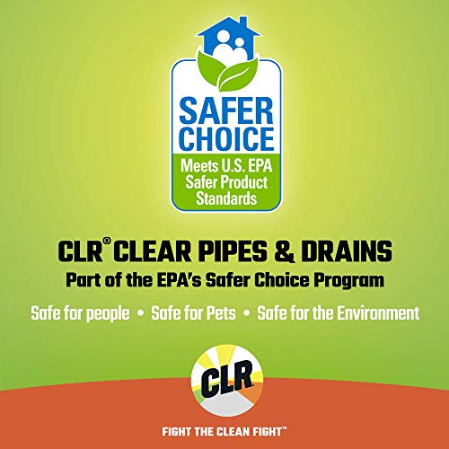 CLR Clear Pipes & Drains, Monthly Build Up Remover, 42 Ounce Bottle