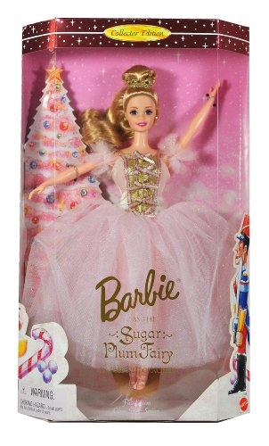 Mattel Year 1996 Barbie Collector Edition First in Classic Ballet Series 12 Inch Doll - Barbie as the Sugar Plump Fairy in the Nutcracker with Tulle Skirt, Tiara, Earrings and Ballet Slippers (17056)