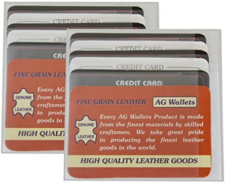 AG Wallets 2 Men's Hipster/European Wallet Staggered Clear Plastic Card Inserts