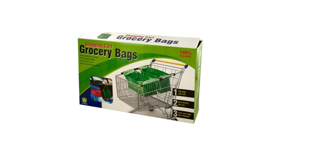 2 X Grab Bag Reusable Clip To Cart Tote 40 Lbs As Seen On Tv Grocery Shopping New by PLOV RNKLIGH B01BQ9IOWO