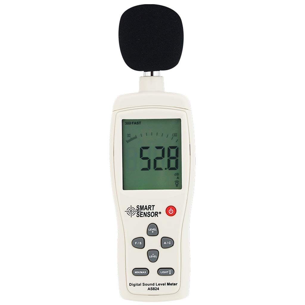 BingWS Decibel Meter Noise Sound Level Meter Noise Tester High Precision Noise Meter Detector Decibel Sound Level Meter 1 Section 9V Battery Sound Measurement
