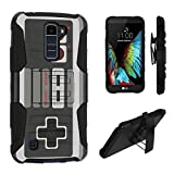 LG K10 Case / LG Premier LTE Case, DuroCase Hybrid Dual Layer Combat Armor Style Kickstand Case w/ Holster for LG K10 / LG Premier LTE (Released in 2016) – (Game Controller) For Sale