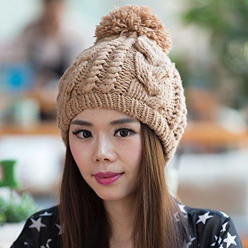 1 de Moda Punto Punto 5 Bromista Lana Sombrero Coreano señoras Maozi Las de de Sombrero Coreana a Invierno del Sombrero HvwUn