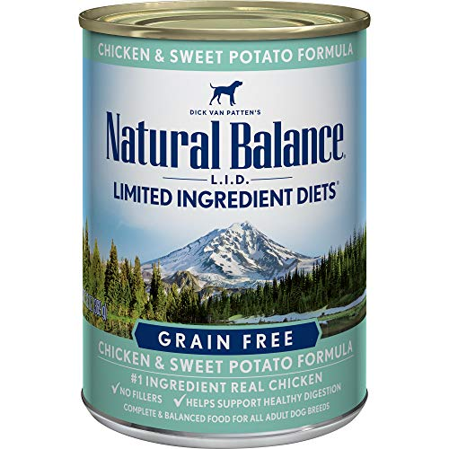 - Natural Balance Limited Ingredient Diets Chicken & Sweet Potato Formula Wet Dog Food, 13 Ounces (Pack of 12), Grain Free