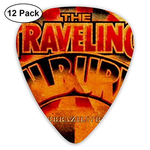 Tchca Guitar Pick The Traveling Wilburys- Novelty Innovative Guitar Pick (12 Pcs) Medium & Heavy Gauges (Traveling Wilburys Guitar)