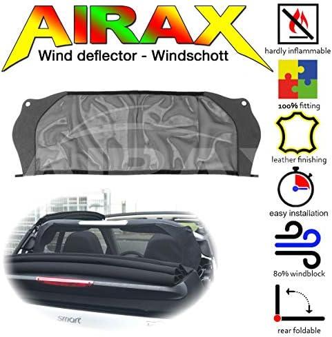 Airax windscherm voor Fortwo 451 Cabrio Windabweiser Windscherm Windstop Wind deflector déflecteur de vent