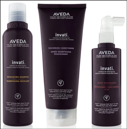 Aveda Invati Shampoo 6.7 oz Conditioner 6.7 oz Scalp Revitalizer 5 oz by Aveda