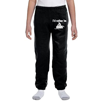 Boys Soft/Cozy Sweatpants I'd Rather Be Snowmobile Rider Silhouette 1 Sweat Pant