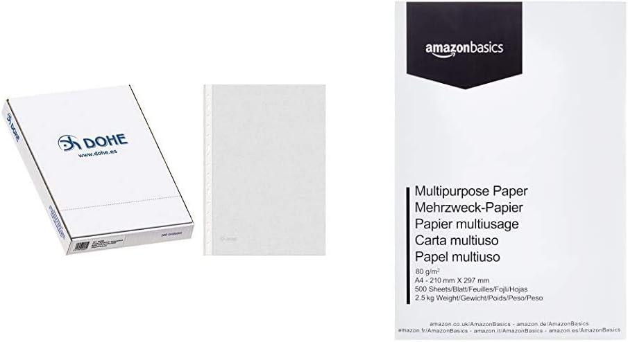 Dohe Basic - Pack de 100 fundas multitaladro, folio, Plus + ...