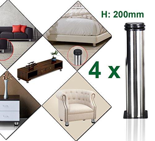 4 Packs 200mm Height Stainless Steel Kitchen Adjustable Feet Round 2