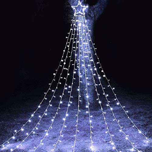 MAOYUE Outdoor Christmas Decorations 335 LED Star Lights 8 Lighting Modes Outside Tree Decoration Lights for New Year, Holiday, Wedding, Party (Large Christmas Extra Decorations Outdoor)