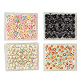 Makartt 3D Nail Decals Nail Art Sticker Mix Color Self-adhesive Flower Decal Decoration 50 Sheets