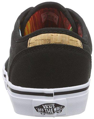 VansY ATWOOD DELUXE SUEDE - Zapatillas Niños^Niñas gris - Grau ((10oz Canvas) black/blanket)