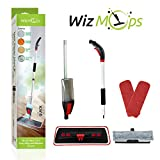 2 in 1 Spray Mop Kit with Window Cleaner | 2x Reusable Microfibre Pad & 600ml Refillable bottle | for Wet and Dry Vinyl, Hardwood, Laminate, Wood & Tiles Floor Cleaning, Glass Wipe | Safer than steam mop