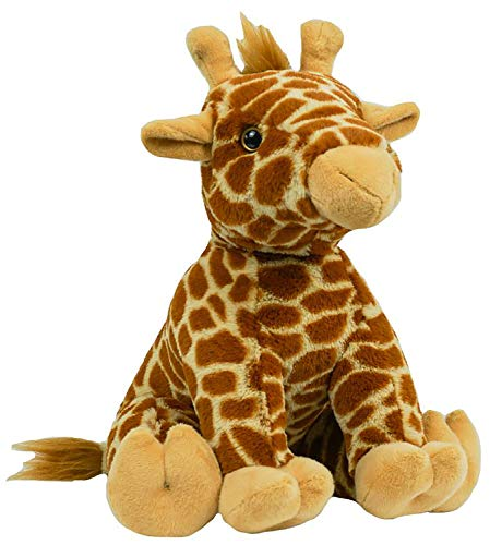 Stuffems Toy Shop Record Your Own Plush 16 inch Short Fur Giraffe - Ready To Love In A Few Easy Steps