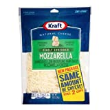 Kraft Zip Pak Finely Shredded Mozzarella Cheese, 2 Ounce - 12 per case.