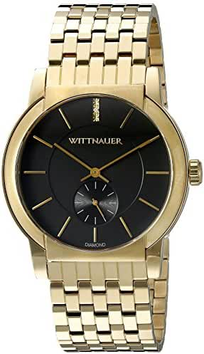 Wittnauer Mens WN3042 22mm Stainless Steel Gold Watch Bracelet