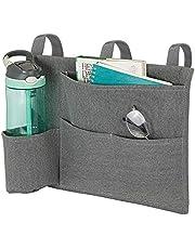 mDesign Fabric Bedside Hanging Storage Organizer Caddy Pocket