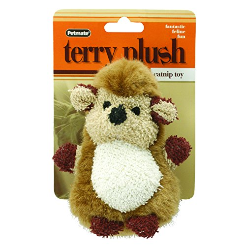 Booda Catnip Terry Hedgehog Toy, Multicolor (Catnip Terry Cat)