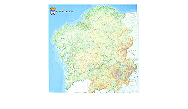 Mapa en relieve de Galicia: Escala 1:250.000: Amazon.es: All 3D ...