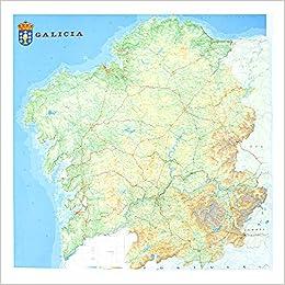 Mapa en relieve de Galicia: Escala 1:250.000: Amazon.es: All 3D ...