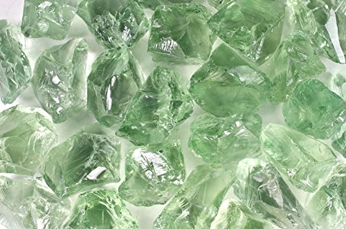 Fantasia Materials: 3 pcs of Prasiolite Green Amethyst Professional Facet Rough - 10-20 cts/pc - Grade 1 - Raw Natural Crystals for Faceting, Cabbing, Cutting, Lapidary, Polishing, Wire Wrapping
