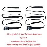 Alfa Gear Soft Roof Rack Pads with 2 pcs Tie Down