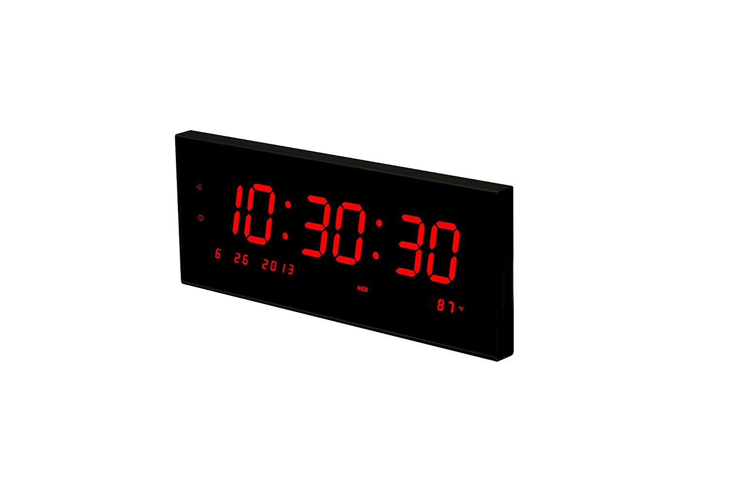 Amazon large led digital clock calendar with 8 alarms for amazon large led digital clock calendar with 8 alarms for desk or wall home kitchen amipublicfo Gallery