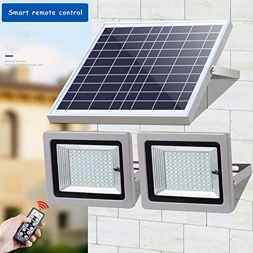 Solar Light One Drag Two High Power 100W Solar Overstroming Licht Intelligent Household Light Control + Remote Control Courtyard Solar Beveiliging Lights,100LED