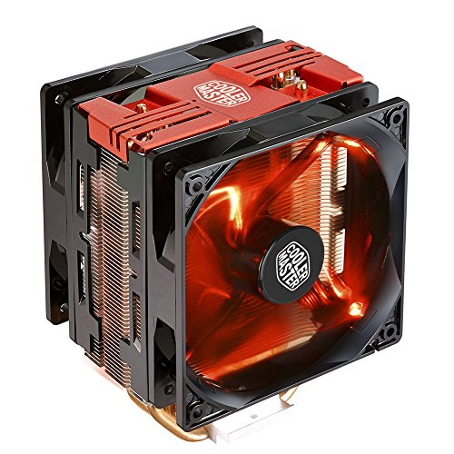 Cooler Master Hyper 212 LED Turbo- Red Top Cover is equipped with dual 120mm PWM Fans Red LEDs CPU Cooler