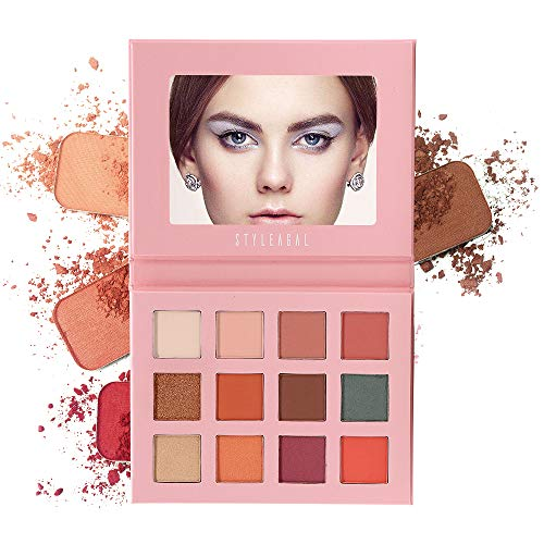 Eyeshadow Palette, STYLEAGAL 12 colors Eye Shadow Palette,Professional Matte Shimmer With 7 Matte + 5 Shimmer, Long Lasting Waterproof Pigmented Make Up palette