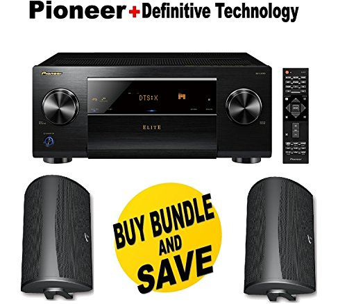 Pioneer Network AV Receiver Audio & Video Component Receiver,Black (SC-LX701) + Pair of Definitive Technology AW 6500B Outdoor Speaker (Single, Black) Bundle